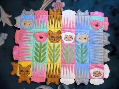 Baby Animals Applique Sampler Quilt