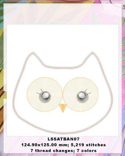 Baby Animals Applique Baby Owl Design Details