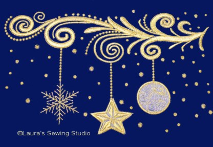 Golden Christmas Embroidery Collection