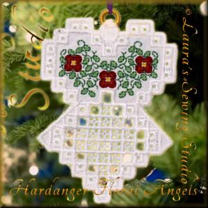 Hardanger Floral Angel