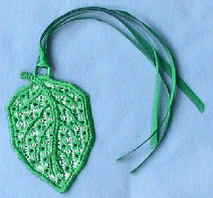 Hardanger Ornaments - Leaf