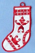 Hardanger Ornaments - Stocking