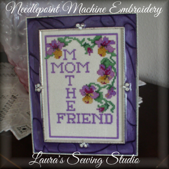 Mom Needlepoint Machine Embroidery