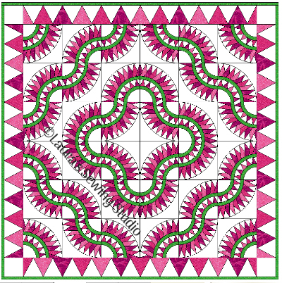 New York Beauty Hoop N Quilt Layout #3