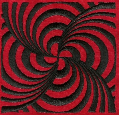 Illusions No. 11, Black on Red
