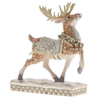 Enesco White Woodland Reindeer Figurine
