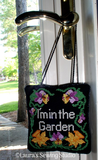 Needlepoint Machine Embroidery Project - In the Garden, Take #2