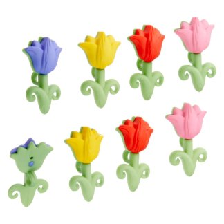 Dress It Up! Easter Tulip Buttons