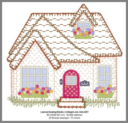 Cottage Love 4-Inch Design Details