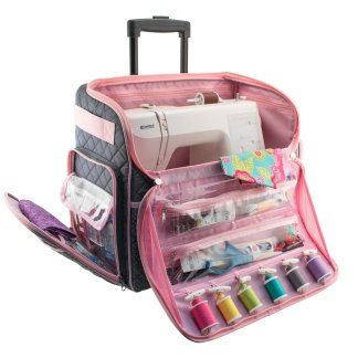 Pink Sewing Machine Tote by Everything Mary