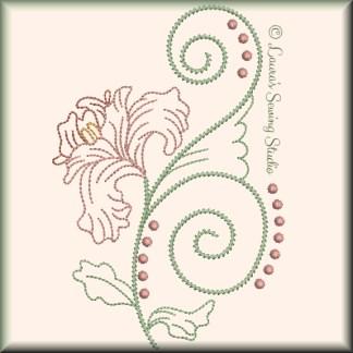 Fragile Petals No. 8 - Free Embroidery Design