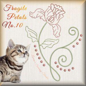Fragile Petals No. 10 - Free Embroidery Design