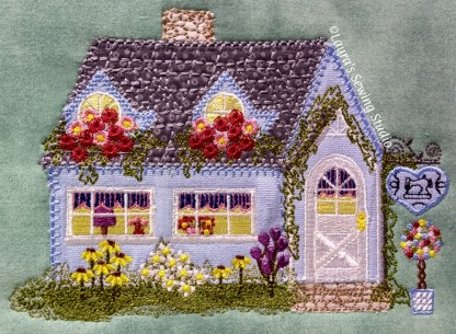 Cottage Shoppe Applique Machine Embroidery Project for the 5x7 Hoop