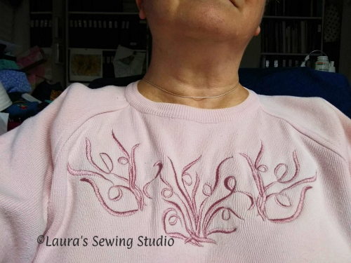 My Scribbles Sweater - Free Embroidery Designs - the whole thing