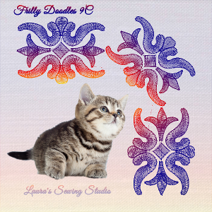 Frilly Doodles 9C - Free Embroidery Design