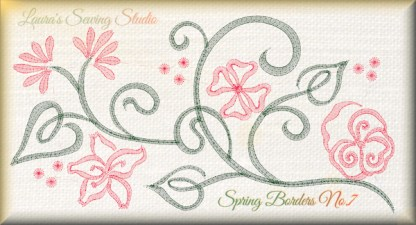 Spring Borders No. 7 Free Embroidery Design