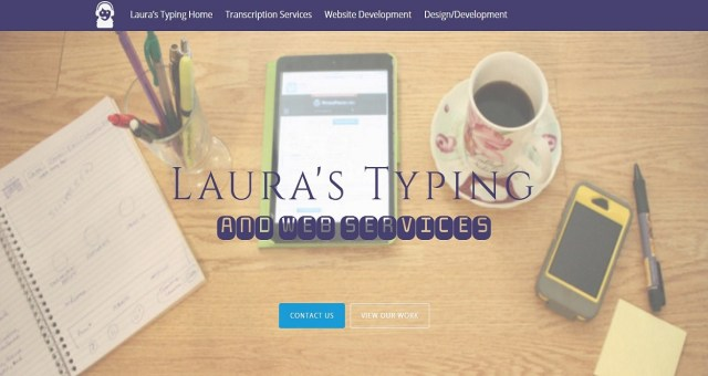 Laura's Typing Screen Shot