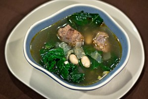 Lazy Italian wedding soup