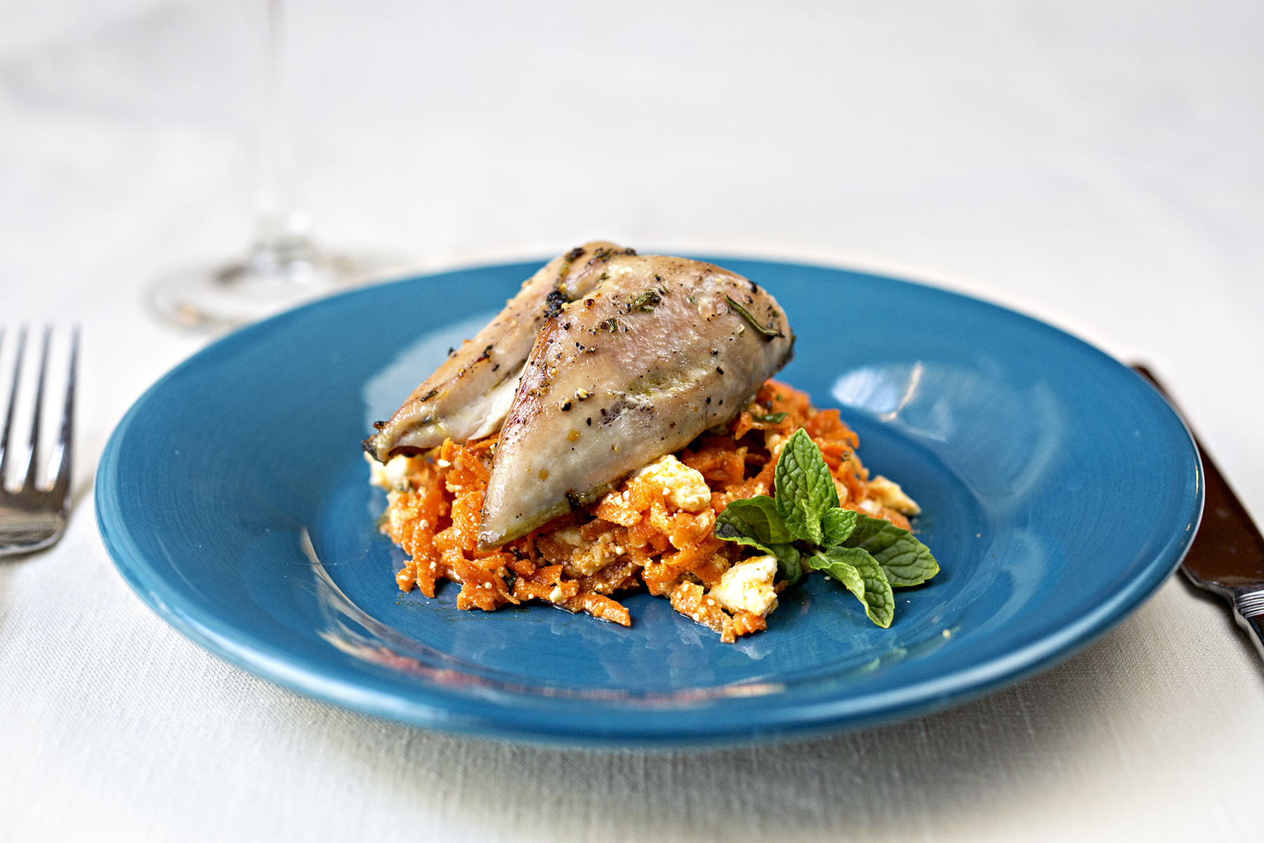 Quail Recipe: Honey roasted quail over a Harissa carrot saladLaura\'s ...