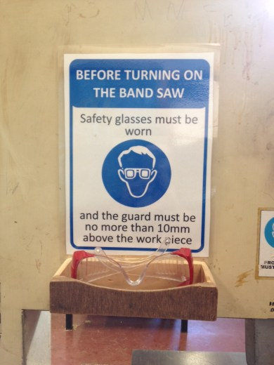 Band saw safety poster