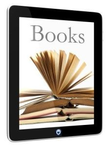 ebook reader with book image