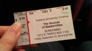 film screening ticket - The Hound of the Baskervilles