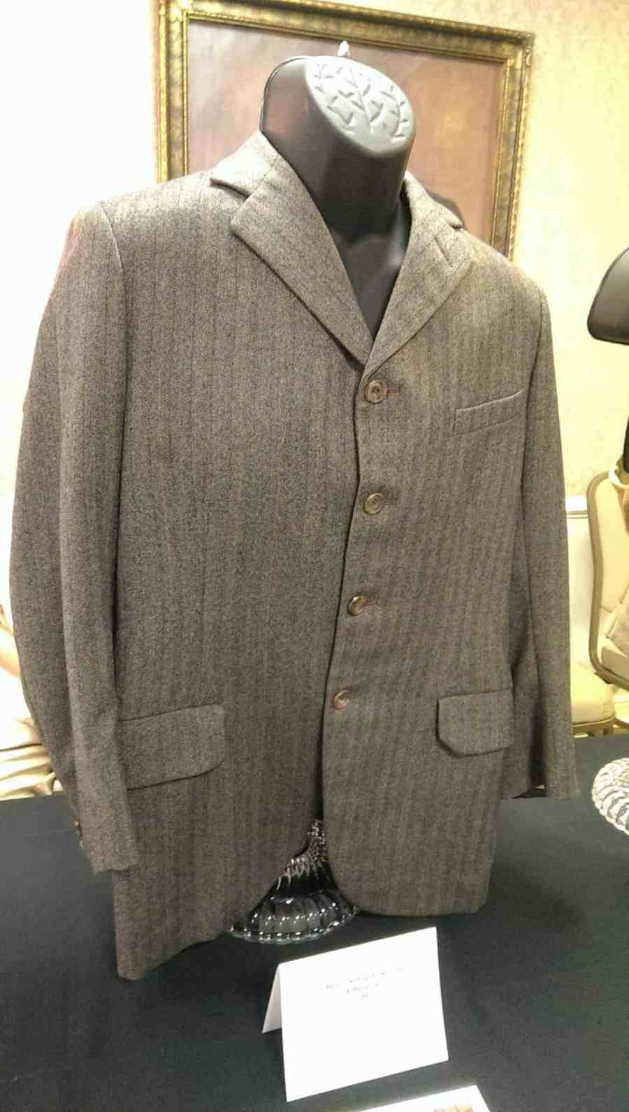 Dr. Watson's jacket from WITHOUT A CLUE (1988). Grey herringbone wool jacket.