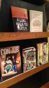 CON JOB facing out on a shelf at Indy Reads Books