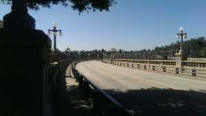 "Colorado St bridge, aka ""suicide bridge"""