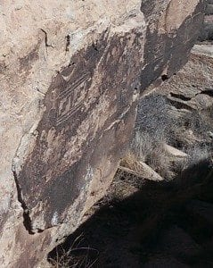 petroglyphs in the Painted Desert