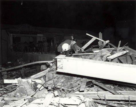 debris of the New London School explosion