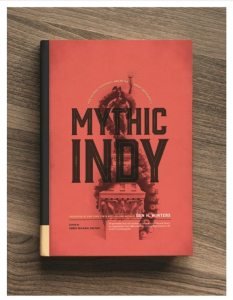 red cover with Mythic Indy title and ruins image