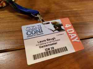 Gen Con badge