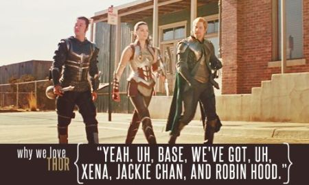 """Yeah, base, we've got Xena, Jackie Chan, and Robin Hood."""