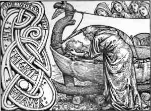 Odin's Last Words to Baldr, by W.G. Collingwood