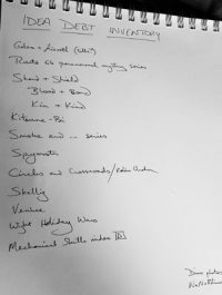list of handwritten creative ideas