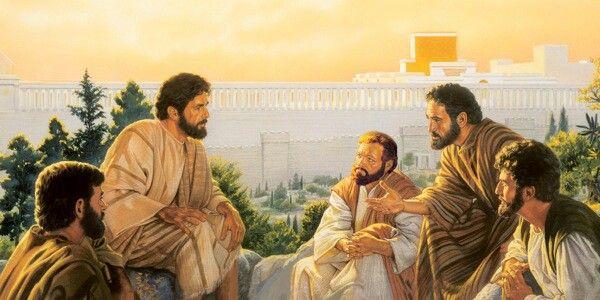 Jesus teaching apostles