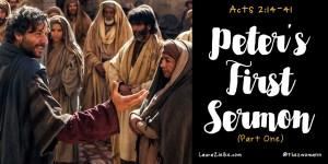 Peter's First Sermon