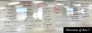 Acts 7 Notes on the Whiteboard