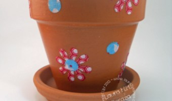 Decoupage Flower Pots