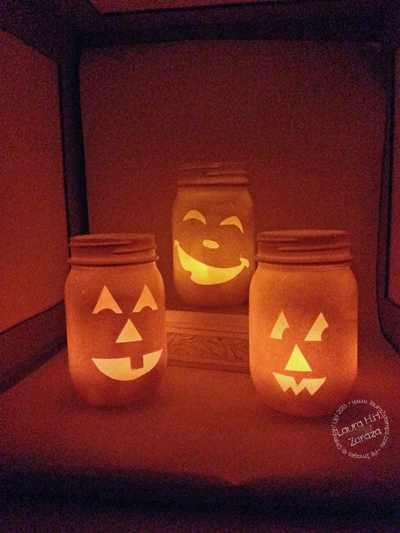 Just a little boo treat and more halloween decor for Glow in the dark paint for real pumpkins
