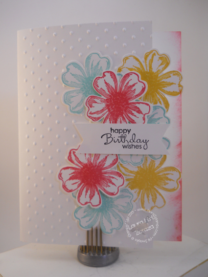 Floral Card with Strawberry Slush