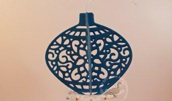 Blue Delicate Ornament