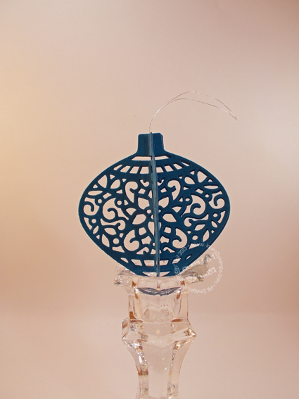 Blue Delicate Ornament
