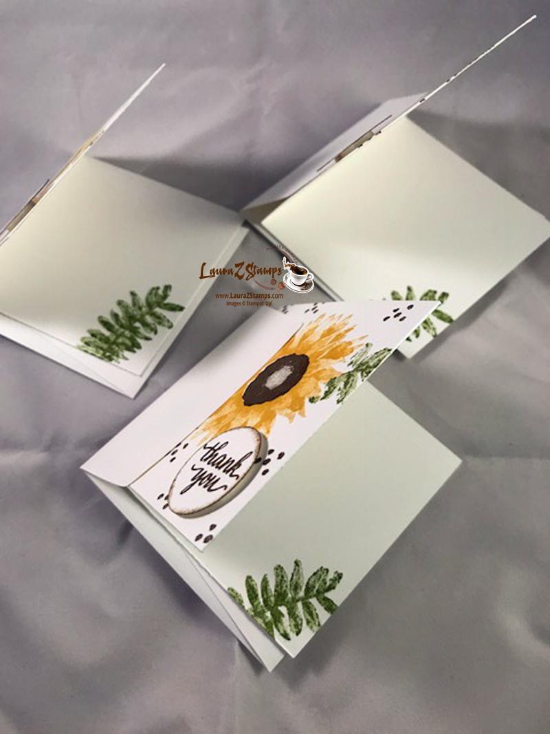 Leaves inside little cards