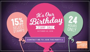 Today-1 Day only- Stampin' Up! Sale