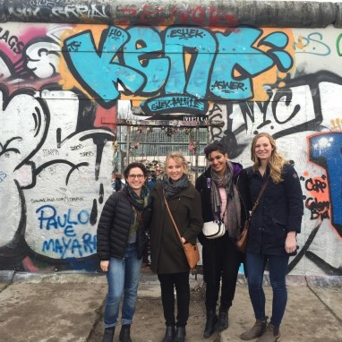 Fulbright Grantees from France, Spain & Germany at the Berlin Wall