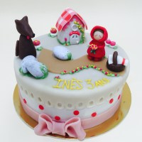 Gâteau petit chaperon rouge !