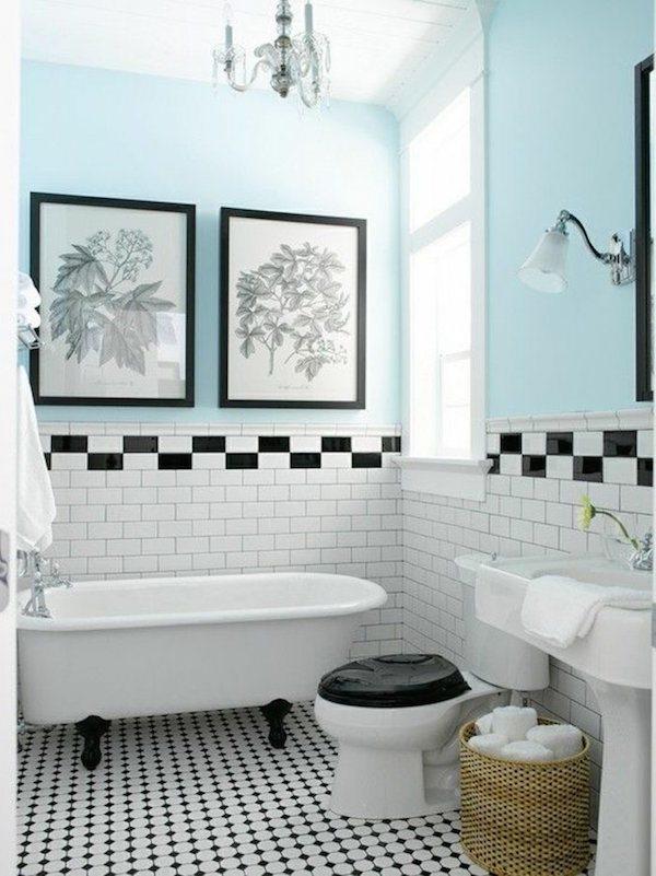 1 salle de bain retro carrelage blanc