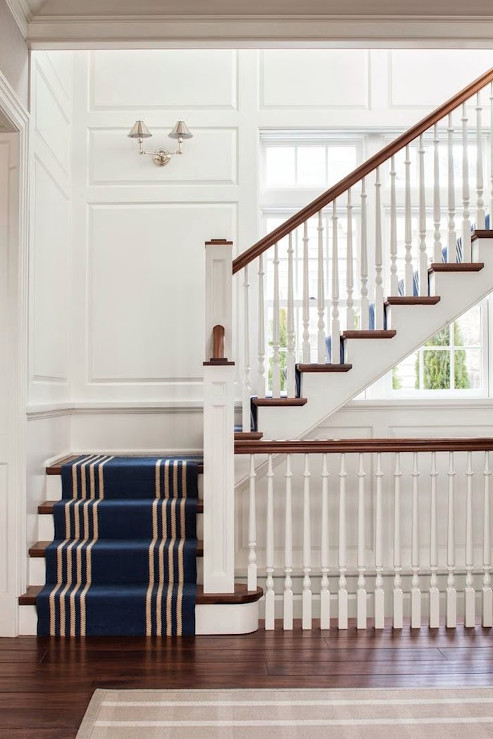 3 Common Staircase Design And Decor Mistakes What To Do Instead | Grey Banister White Spindles | Silver | Indoor | Pewter | Gloss | Wrought Iron